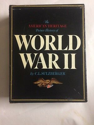 The American Heritage Picture History of World War II 1966 + Chrononology wwll