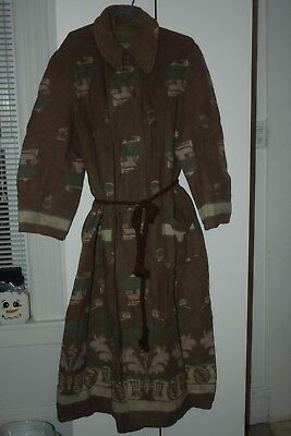 Vintage 20's- 30's  Beacon Style Indian Blanket Robe Made by Rosenwald Weil