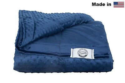 Luxury Minky Weighted Blanket - Made in USA - Many Sizes & Colors
