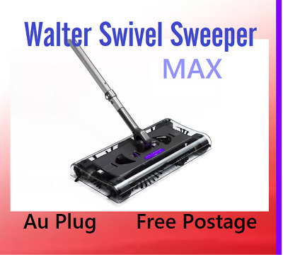 New Cordless Rechargeable Swivel Sweeper Battery Powered MAX Quad-Brush