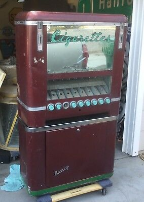 Vintage 1948 Keeney Cigarette Vending Machine Coin Operated Op Machine Candy