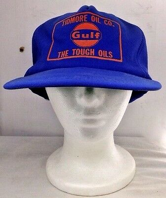 Vintage Gulf Tidmore Oil Co. The Tough Oils (Gasoline) Snapback Hat Cap