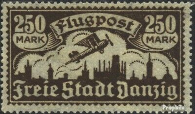 Gdansk 136 Favor devaluation fine used / cancelled 1923 Airmail