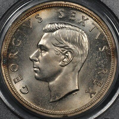1948 Pcgs Pl66 South Africa Proof 5 Shillings