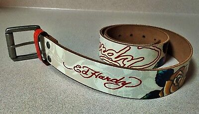 Ed Hardy Girls Leather Belt By Christian Audigier Style No.eh3206 Size:m