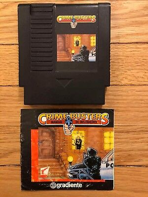 Crime Busters NES BRAZIL EXCLUSIVE Plays w/TOP LOAD NES Rare Game With Manual!