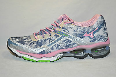 MIZUNO WAVE CREATION 15 womens running shoes Size 6 NEW GREY PINK