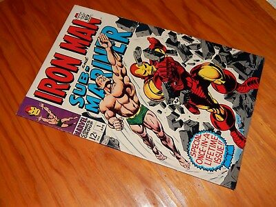 Iron Man & Sub-Mariner #1 VF 8.0  (Apr 1968, Marvel)  Free Shipping