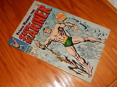 Prince Namor the Sub-Mariner #1 VF- 7.0/7.5 (May 1968, Marvel) Free Shipping
