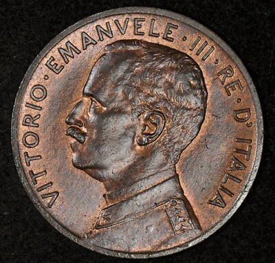 1909-R Italy 2 Centesimi Uncirculated Red/brown