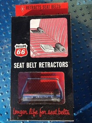 Nos PHILLIPS 66 GAS OIL ADVERTISING Seatbelt retainer Chevrolet GMC Ford Truck