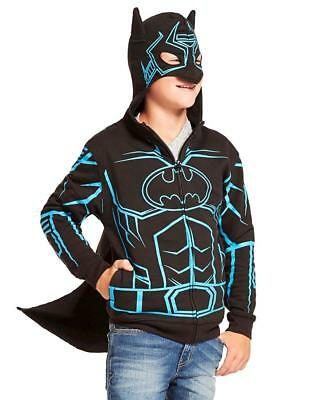 DC Comics Dark Knight Batman Glow-in-The-Dark Boys' Fleece Hoodie Sweater -...