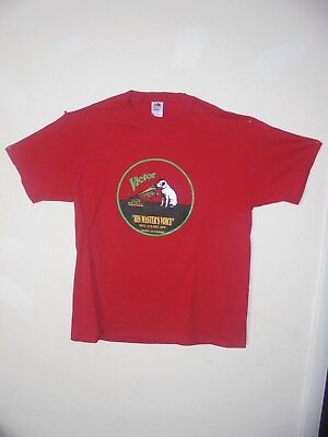 Nipper & Phonograph Red T-Shirts X-large size Edison Made in USA NOS