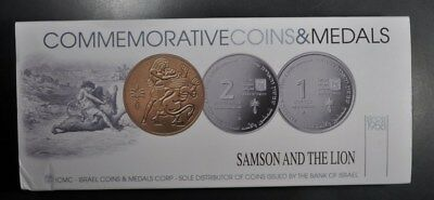 2009 Israel Samson And The Lion  Proof 2 New Shekel Unc 1 Shequel