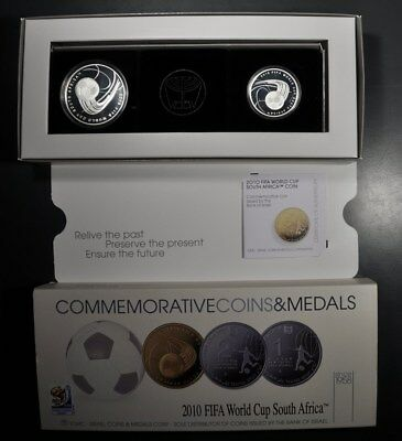2010 Israel World Cup South Africa Proof 2 New Shekel Proof 1 Shequel Silver