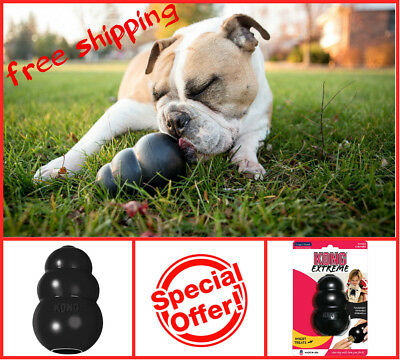 KONG Extreme Large Rubber Chew Black Toy For Dogs New - World's Best Dog Toy(K1)