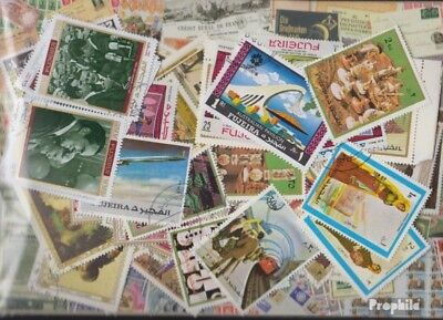 Fujeira Stamps-100 different stamps