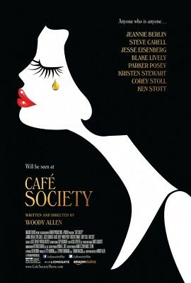 CAFE SOCIETY great original 27x40 ds movie poster (s01)