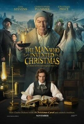 THE MAN WHO INVENTED CHRISTMAS great original 27x40 D/S movie poster (07)