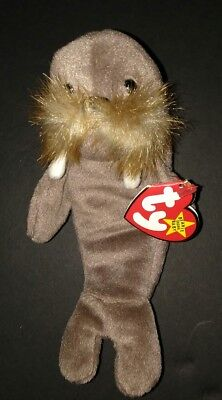 Ty Beanie Babies Jolly Walrus 4082 Dob 12-2-96 Great Condition New W/tag