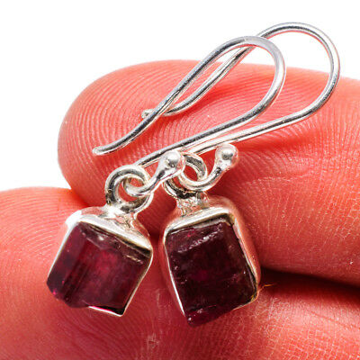 "Pink Tourmaline 925 Sterling Silver Earrings 1"" Ana Co Jewelry E360806"
