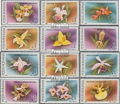 Romania 4496-4507 (complete issue) unmounted mint / never hinged 1988 Orchids