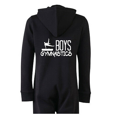 Personalised Boys Gymnastics horse All in one with your Name and Initials pyjama