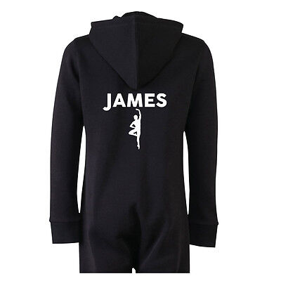 Personalised Boys Ballet All in One with your Name and Initials pumps Pyjamas