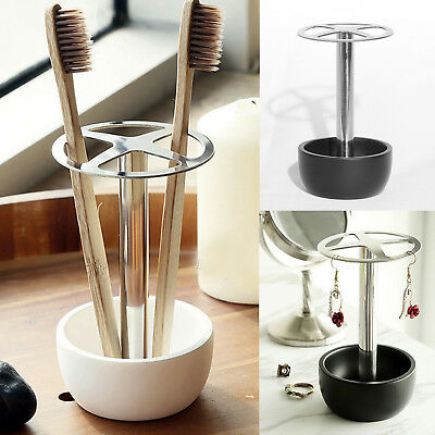 Stainless Steel Toothbrush Holder Toothpaste Razor Stand Bathroom Organizer New