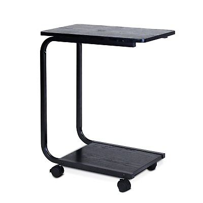 Overbed Rolling Table Over Bed Laptop Food Tray Hospital Desk Non Tilting Top