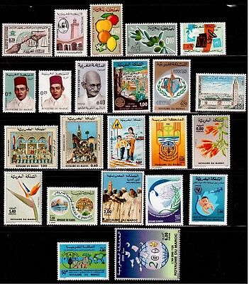 Morocco  Lot 23 Different Stamps Mint Never Hinged !!