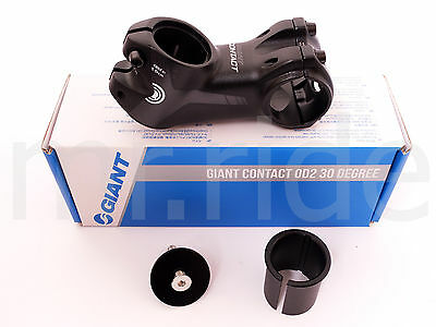 "2018 GIANT Contact OD2 Stem 75mm +/-30 degree Black 1-1/4"" and 1-1/8"" spacer"