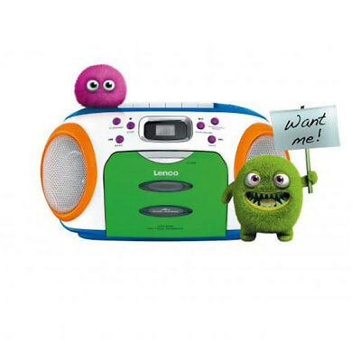 Lenco SCR-970 MP3 Kids CD-Stereo-Radiorecorder Kassettengerät LCD-Display Radio