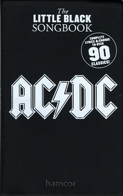 AC/DC The Little Black Songbook Guitar Chord & Lyrics Music Book 90 Songs