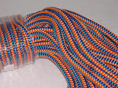 Arborist 12 strand polyester climbing rope 1/2x200 feet blue orange hi vis tree