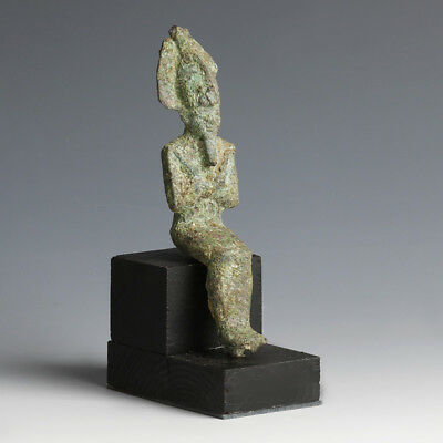 Seated Bronze Egyptian God Osiris