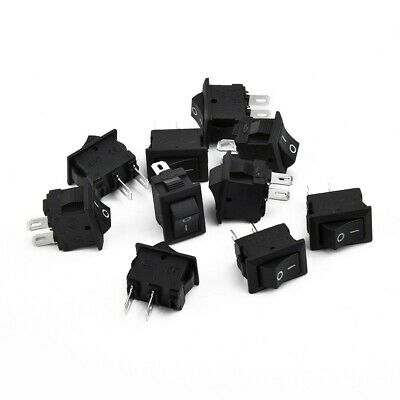 10Pcs 2 Pin 12V Auto Boot runde Punkt Licht ON / OFF Rocker Toggle Switch Tool S