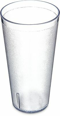 Carlisle 5232-8107 Stackable SAN Tumbler, 32 oz., Clear (Pack of 3) New