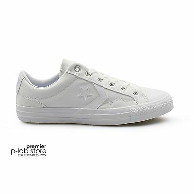 Converse Star Player Classic Mono Triple White Canvas Unisex Trainers on Sale