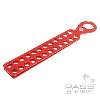 LOTO Large Powder Coated Standard Lockout Tagout Hasp - 24 Hole