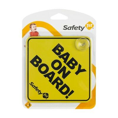Baby on Board Suction Cups Windscreen Window Body Panel Car Safety 1st Sign