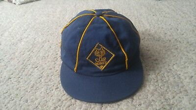 Vintage-Cub Scout Hat/ Cap-Blue w gold stripping-small