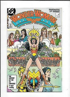 Wonder Woman #1 ==> Vf/nm Wraparound Cover George Perez 1987