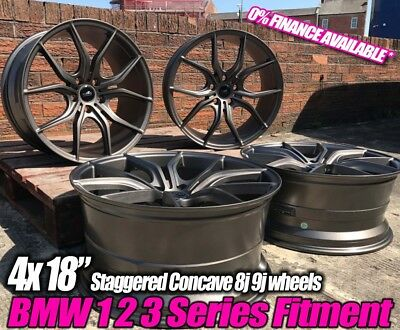 "18"" GTX Concave Gunmetal BMW 2 Active Tourer F45 13> Estate 218 d xDrive"
