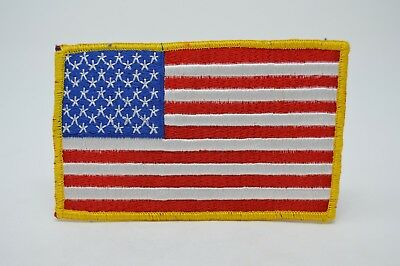 "American Flag Waving Uniform Patch Police Fire Emt Guard 4.75"" American Made"