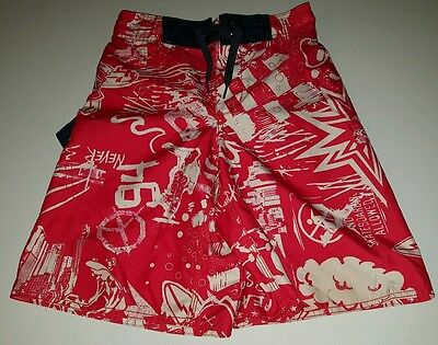 EUC Boys Old Navy Swim Board Shorts Size 8 Red and Blue