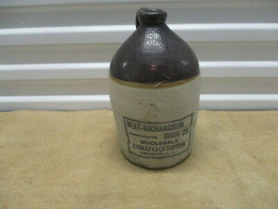 One Gallon Neat And Richardson Louisville Kentucky Whiskey Jug -Antique / Old