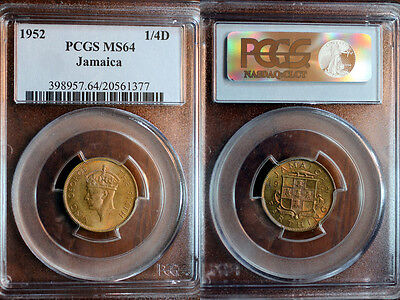 Jamaica 1/4 Penny [farthing] 1952 PCGS-MS65 wow!