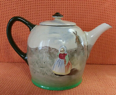 VERY RARE ROYAL DOULTON ENGLAND Teapot with Children and Windmill scene c.1938