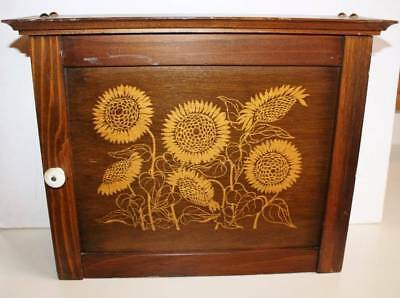 Vtg Sunflower Wood Spice Apothecary 2 Shelf Cabinet Rack Cornwall Ind